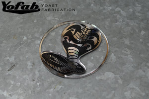 Custom chrome car badge
