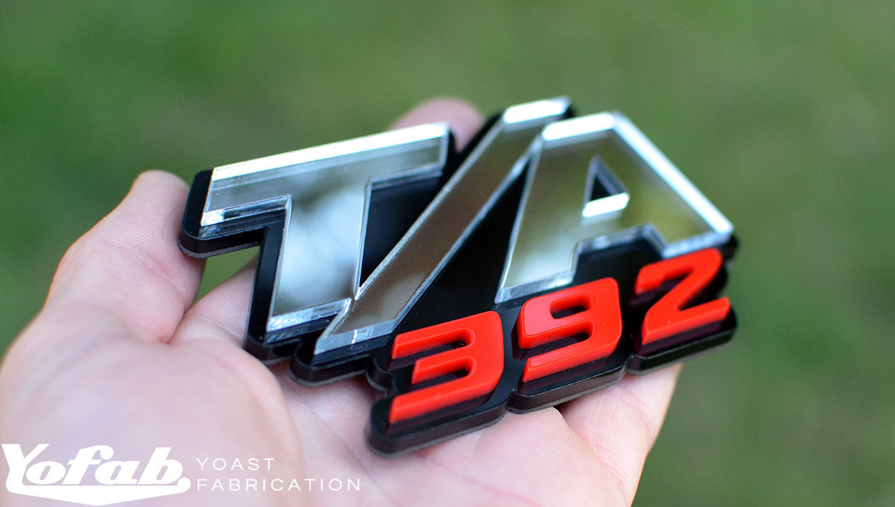 Custom T/A 392 Emblem. Black, Chrome & Red