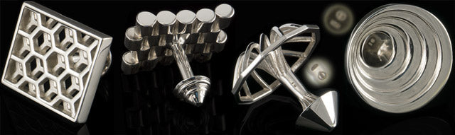 925 silver - high gloss cufflinks