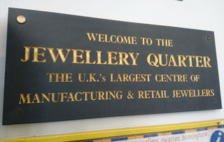 Birmingham Jewellery Quarter welcome sign