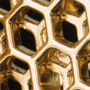 'Honeycomb' 18k gold-plated cufflink