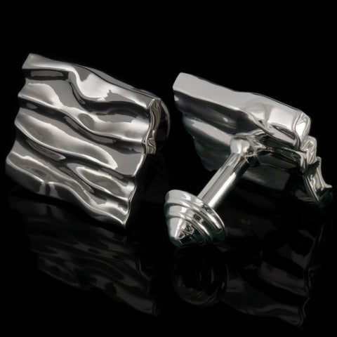 Dunes cufflinks (black gloss)