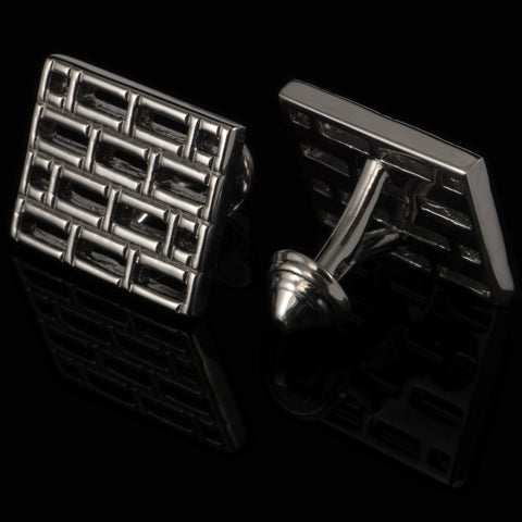 Bars cufflinks (black gloss)