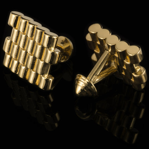 Barrels cufflinks (18K gold plated)
