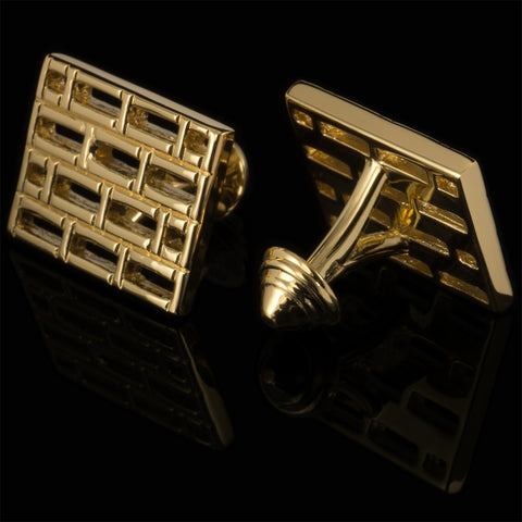 Bars cufflinks (18K gold plated)