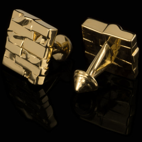 Bricks cufflinks (18K gold plated)