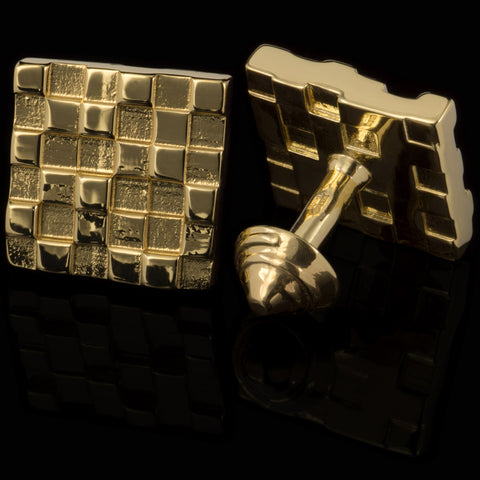 Histogram cufflinks (18K gold plated)
