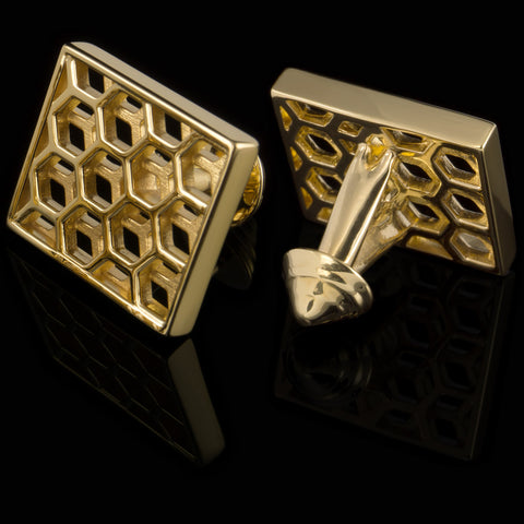 Honeycomb (18K gold plated)