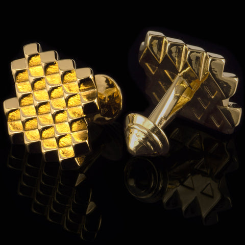 Cubes cufflinks (18K gold plated)
