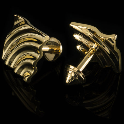 Ripple cufflinks (18K gold plated)