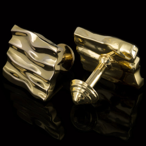 Dunes cufflinks (18K gold plated)