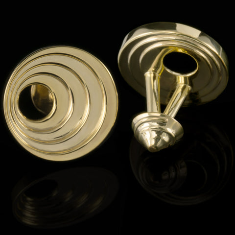 Vortex cufflinks (18K gold plated)