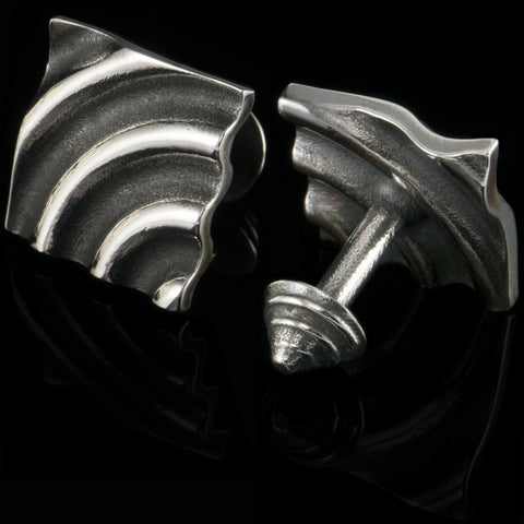 Ripple cufflinks (.925 silver - antiqued)