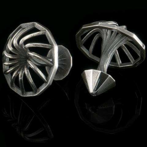 Turbine cufflinks (.925 silver - antiqued)