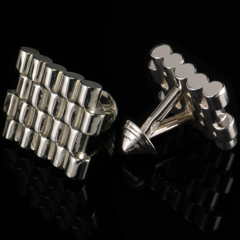 Barrels cufflinks (.925 silver - high gloss)