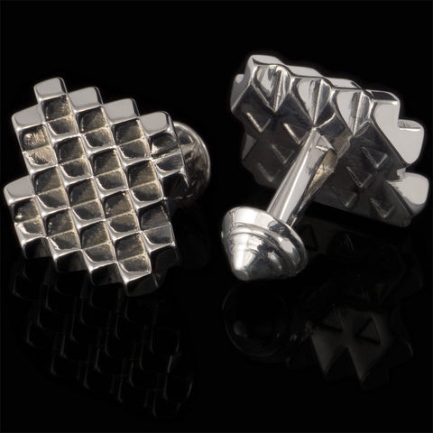 Cubes cufflinks (.925 silver - high gloss)