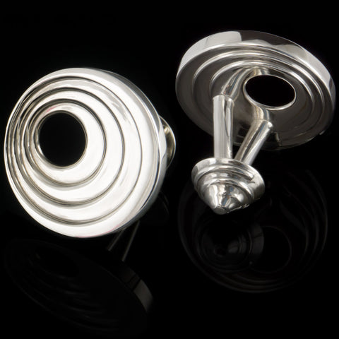 Vortex cufflinks (.925 silver - high gloss)