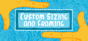 Custom sizing and framing artwork Empty Wall Vancouver BC Art Gallery