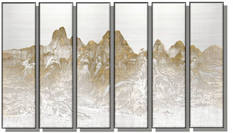 Mountains Silk Relief Print (Set of 6)