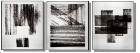 Abstract Silk Relief Print (Set of 3)