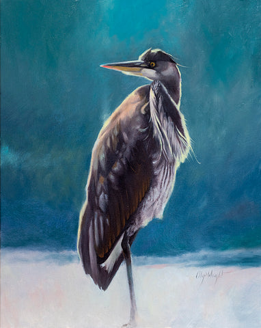 Great Blue Heron by Olya Wright