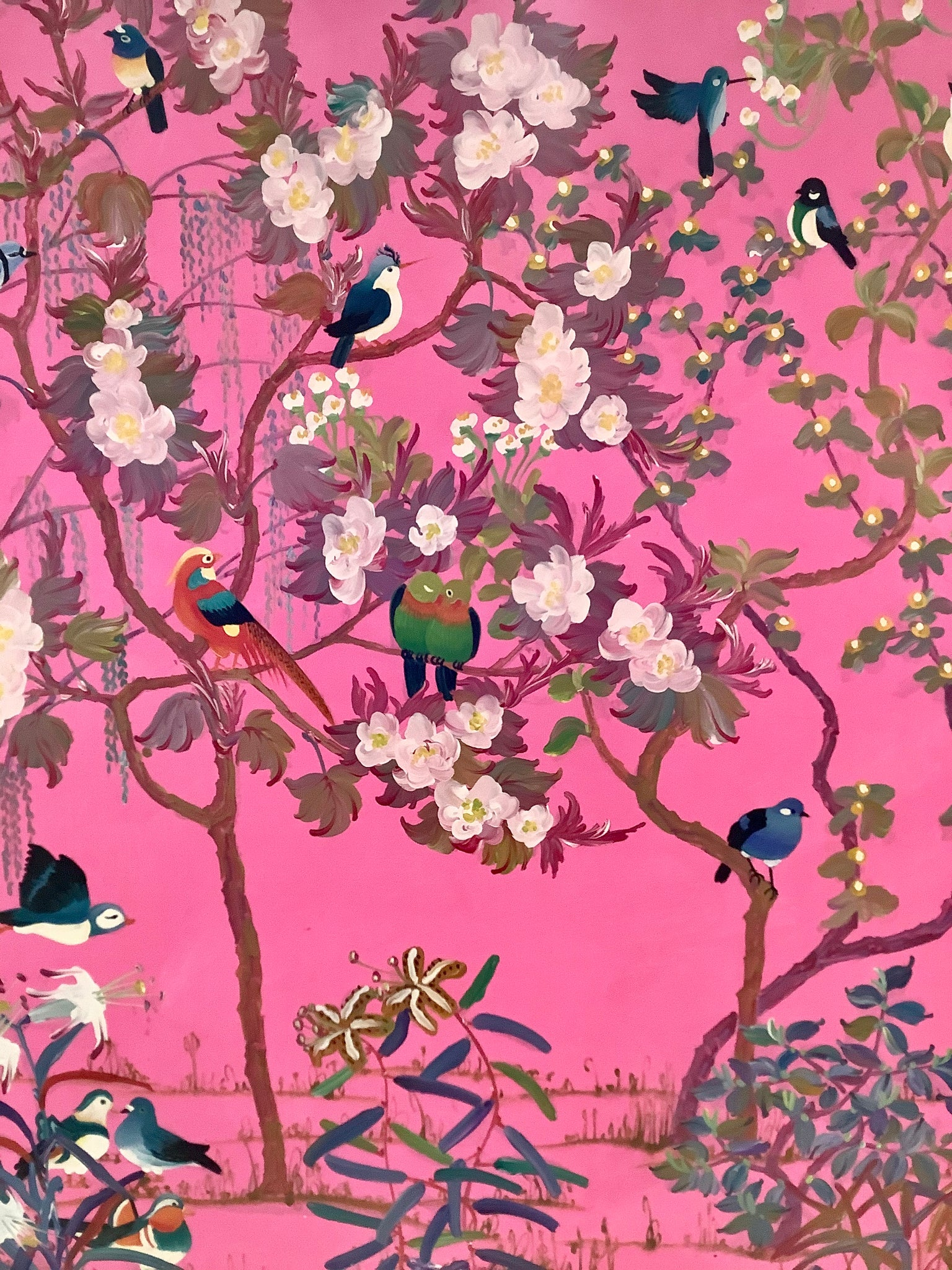 Birds in Pink by Yanli He