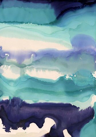 Blue Watercolour Crystal Ceramic Print