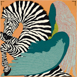 Zebra with Wings Crystal Ceramic Print