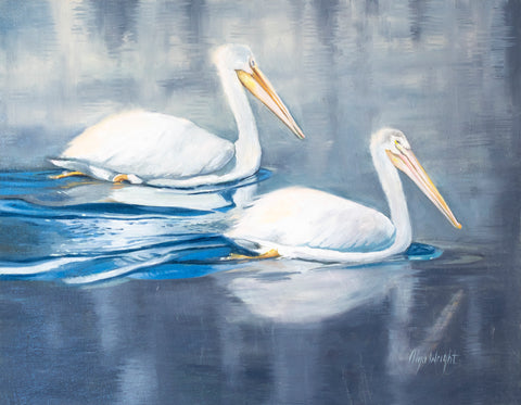 The White Pelicans by Olya Wright
