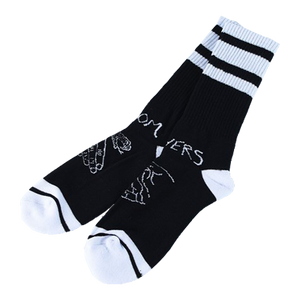 Snake Shake Socks Black/White - LOUNGE