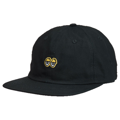 Eyes Embroidered 6 Panel Strapback Black - LOUNGE
