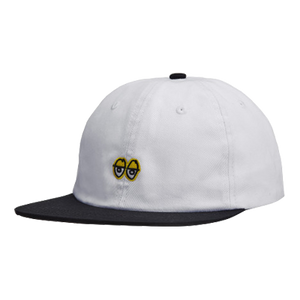 Eyes Embroidered 6 Panel Strapback White/Black - LOUNGE