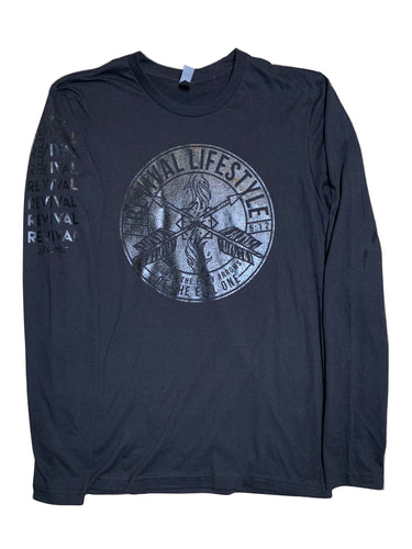 Black On Black Quench The Fiery Arrows Long-sleeve *Unisex*