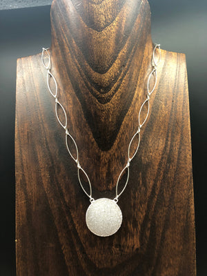 Druzy Full Moon necklace