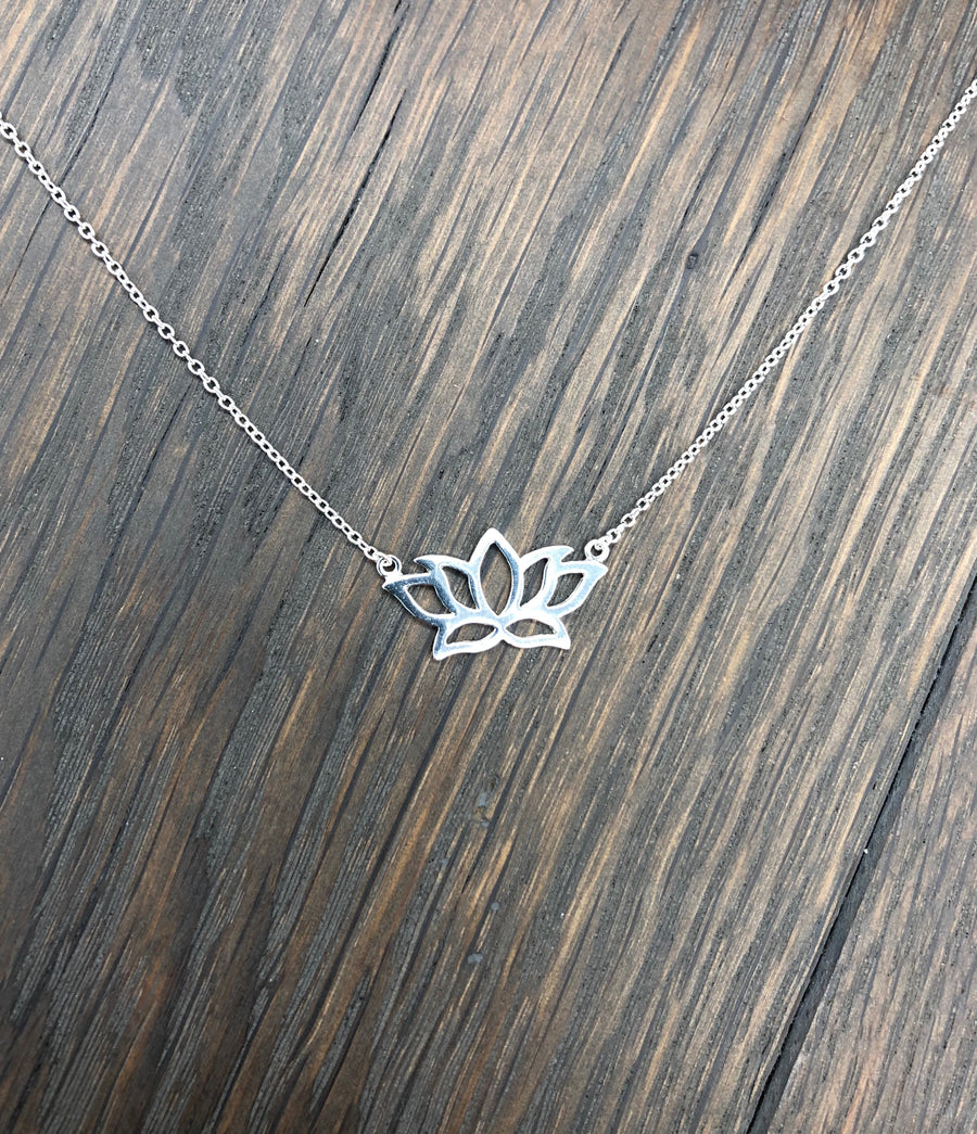 Lotus layering necklace