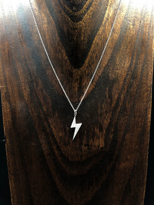 Pavé cz lightning bolt layering necklace