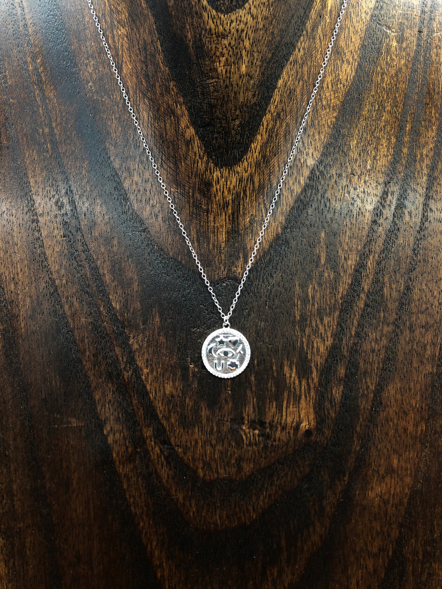 Symbols amulet coin layering necklace