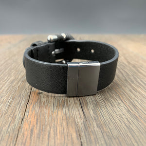 "Vegan leather ""belt"" bracelet"