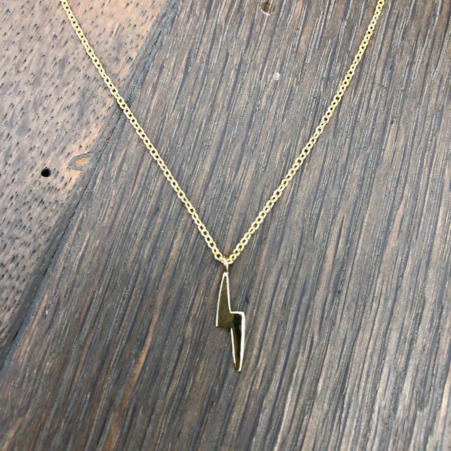XS tiny lightning bolt layering necklace