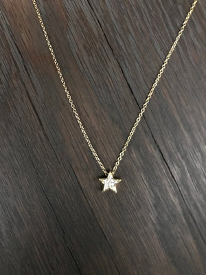 Pavé cz star necklace