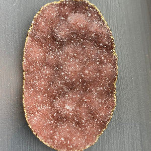 Large free form druzy pendant - gold