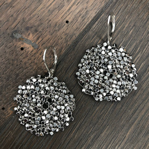 Pebble collection large disc earrings