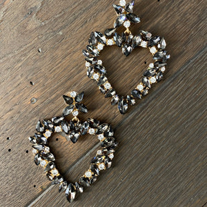 """Heart of Glass"" large stone statement earring"