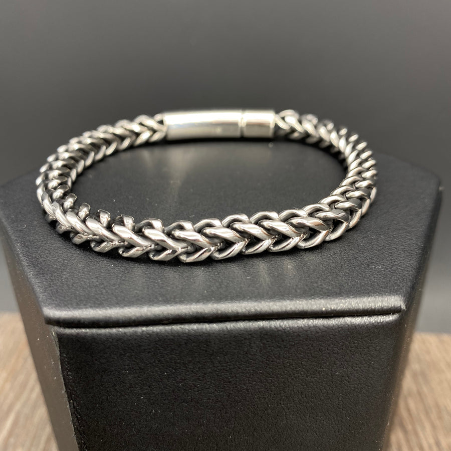 Stainless steel wheat chain bracelet - stainless steel
