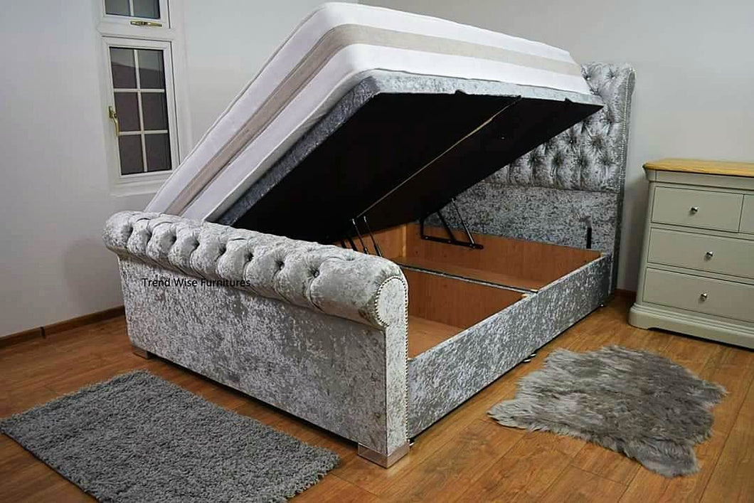 Royal Sleigh Ottoman Empire Bespoke Bed - Bed Empire