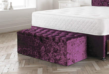 Load image into Gallery viewer, Venus Crushed Velvet Chesterfield Ottoman - Sleep Villa