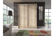 Load image into Gallery viewer, Mido 130/150 Sliding Wardrobe Set. - Bed Empire
