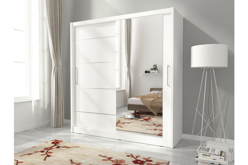 Milan I Alu Sliding Wardrobe Set. - Bed Empire