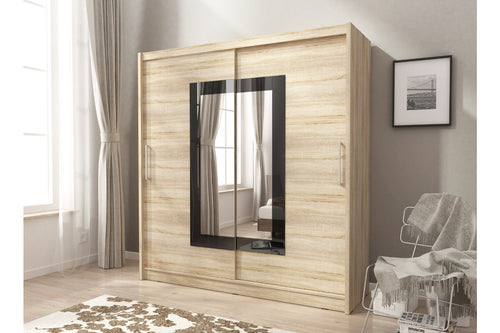 Mido II Sliding Wardrobe Set. - Bed Empire