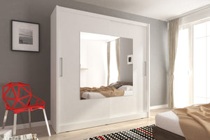Mido IX Sliding Wardrobe Set. - Bed Empire